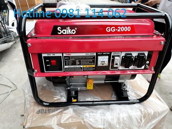 Máy phát điện Saiko GG 2000 được ứng dụng nhiều trong cuộc sống
