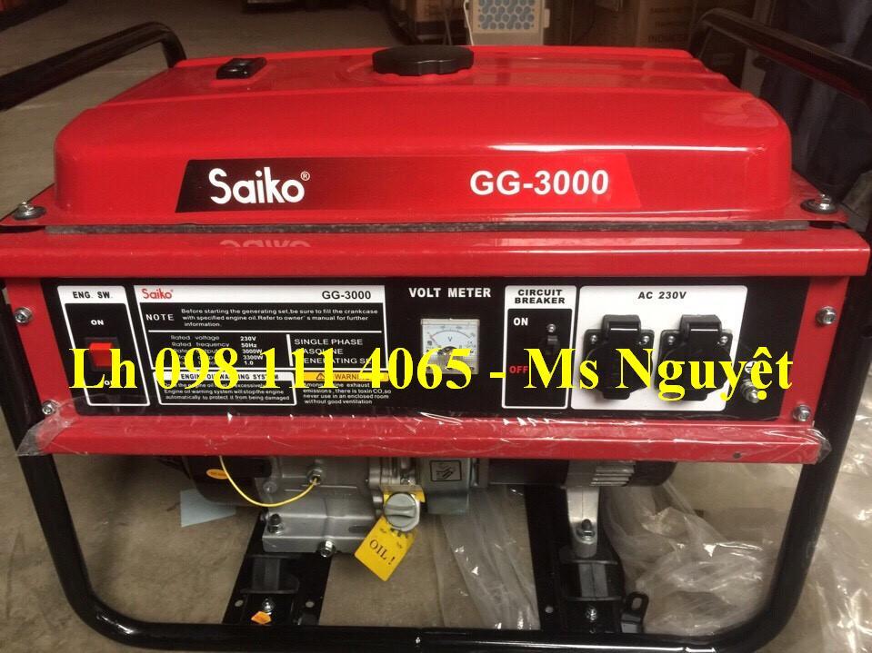 Máy phát điện Saiko GG 3000 được sử dụng trong các hộ gia đình