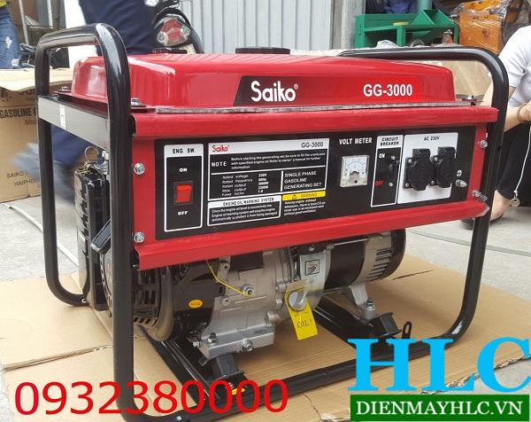 Máy phát điện Saiko GG 3000 có nhiều đặc điểm nổi bật