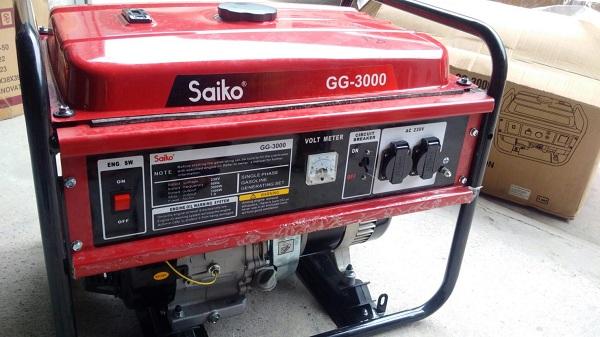 Cách sử dụng máy phát điện Saiko GG 3000