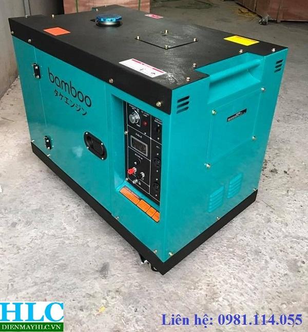 Máy phát điện chạy dầu Bamboo 7kw với cấu tạo có khả năng chống ồn tốt