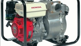 Máy bơm nước chạy xăng Honda WB30XT với thiết kế nhỏ gọn, chạy hoàn toàn bằng xăng