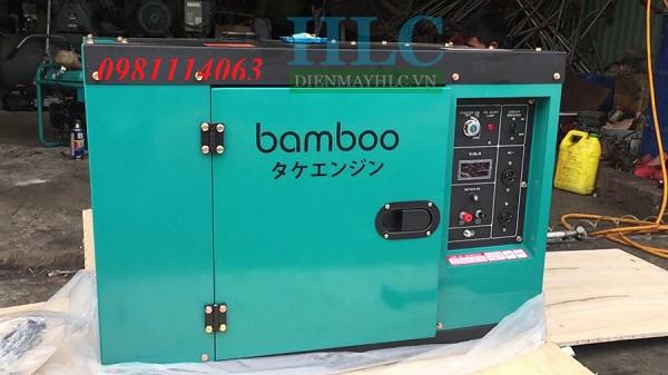 Máy phát điện chạy dầu Bamboo có lớp vỏ chống ồn, cách âm tốt