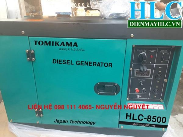 Máy phát điện chạy dầu Tomikama 7kw