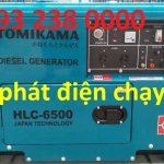 Máy phát điện chạy dầu Tomikama HLC 6500 chống ồn giá rẻ