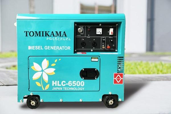 Máy phát điện Tomikama 6500 tiêu thụ nhiên liệu thấp, hoạt động ổn định, bền bỉ