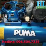 Máy nén khí Puma 2HP sử dụng động cơ điện 1 pha
