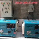 Máy phát điện chạy dầu đề nổ cách âm chống ồn giá rẻ tại Hà Nội