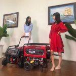 Máy phát điện gia đình chạy xăng không ồn có đề nổ