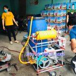 Máy phun thuốc tự chế chạy xăng 150L áp lực cao động cơ Thái